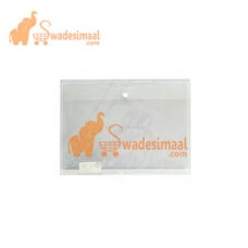 Worldone Clear Bag FS Assorted, Button Envelope