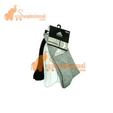 Adidas Sports Socks Full Length, Pack Of 3 U