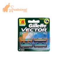 Gillette Vector Plus Cartridge 4'S