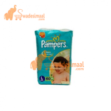 Pampers Diapers Large, 60 U