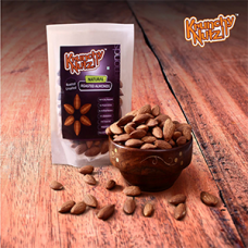 Roasted Unsalted Almonds 80 Gms